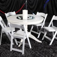 White Gladiator Chair Setting