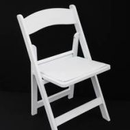 White Folding Gladiator Chair